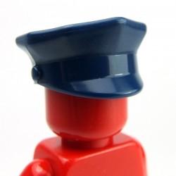 Lego Accessoires Minifig Casquette de Police (Dark Blue) (La Petite Brique)
