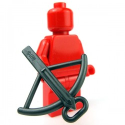 Lego Accessoires Minifig Arbalète (Pearl Dark Gray) (La Petite Brique)