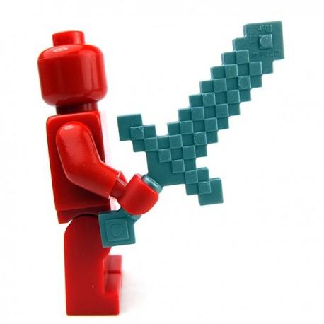 Lego Accessoires Minifig Minecraft Sword Blocky (Flat Silver) (La Petite Brique)