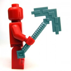 Lego Accessoires Minifig Minecraft Pickaxe Blocky (Flat Silver) (La Petite Brique)