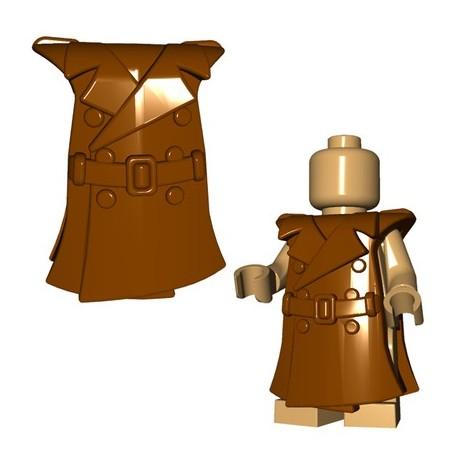 Lego Accessoires Minifig Custom BRICKWARRIORS Trench Coat (Marron) (La Petite Brique)