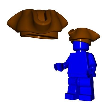 Lego Accessoires Minifig Custom BRICKWARRIORS Tricorne Pirate (Marron) (La Petite Brique)