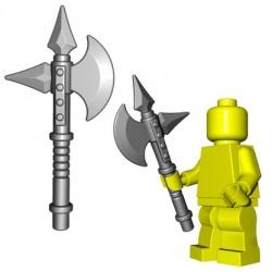 Lego Accessoires Minifig Custom BRICKWARRIORS Battle Axe (Steel) (La Petite Brique)