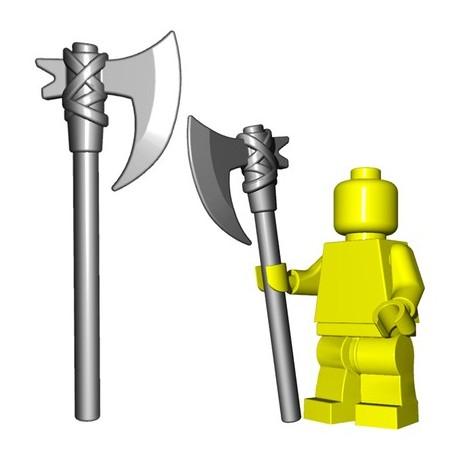 Lego Accessoires Minifig Custom BRICKWARRIORS Executioner Axe (Steel) (La Petite Brique)