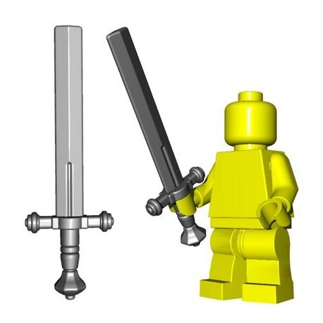 Lego Accessoires Minifig Custom BRICKWARRIORS Executioner Sword (Steel) (La Petite Brique)