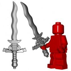 Lego Accessoires Minifig Custom BRICKWARRIORS Flamberge (Steel) (La Petite Brique)