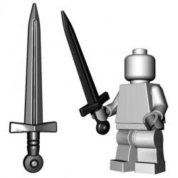 Lego Accessoires Minifig Custom BRICKWARRIORS Arming Sword (Noir) (La Petite Brique)