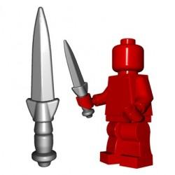 Lego Accessoires Minifig Custom BRICKWARRIORS Dirk (Steel) (La Petite Brique)