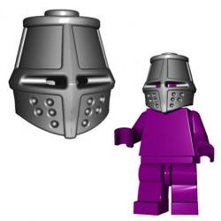Lego Accessoires Minifig Custom BRICKWARRIORS Great Helm (Steel) (La Petite Brique)