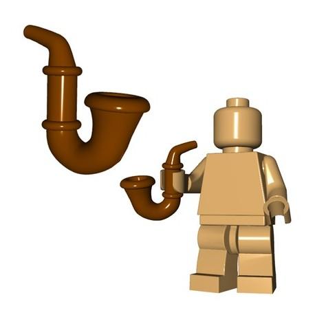 Lego Accessoires Minifig Custom BRICKWARRIORS Gentleman's Pipe (Marron) (La Petite Brique)