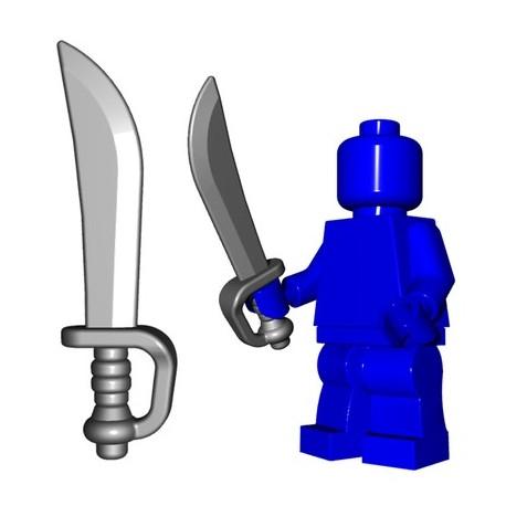 Lego Accessoires Minifig Custom BRICKWARRIORS Pirate Cutlass (Steel) (La Petite Brique)