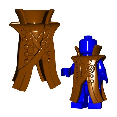 Lego Accessoires Minifig Custom BRICKWARRIORS Pirate Coat (Marron) (La Petite Brique)