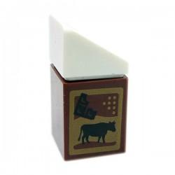 Lego Accessoires Minifig Brique de Chocolat au Lait 1x1 (Reddish Brown) (La Petite Brique)