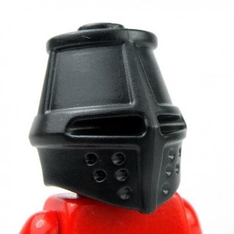 Lego Accessoires Minifig Custom BRICKWARRIORS Great Helm (Noir) (La Petite Brique)