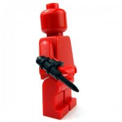 Lego Accessoires Minifig Custom BRICKWARRIORS Hidden Blade (Noir - vendu à l'unité) (La Petite Brique)