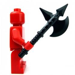 Lego Accessoires Minifig Custom BRICKWARRIORS Battle Axe (Noir) (La Petite Brique)