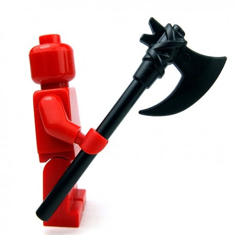 Lego Accessoires Minifig Custom BRICKWARRIORS Executioner Axe (Noir) (La Petite Brique)