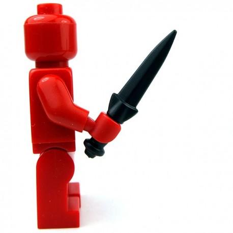 Lego Accessoires Minifig Custom BRICKWARRIORS Dirk (Noir) (La Petite Brique)