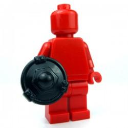 Lego Accessoires Minifig Custom BRICKWARRIORS Bouclier Buckler (Noir) (La Petite Brique)