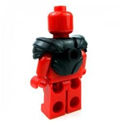 Lego Accessoires Minifig Custom BRICKWARRIORS Armure Plate (Noir) (La Petite Brique)