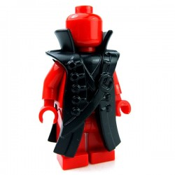 Lego Accessoires Minifig Custom BRICKWARRIORS Pirate Coat (Noir) (La Petite Brique)