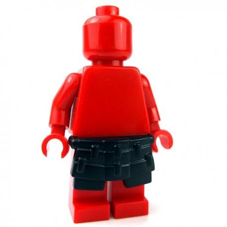 Lego Accessoires Minifig Custom BRICKWARRIORS Kusazuri Samurai (Noir) (La Petite Brique)