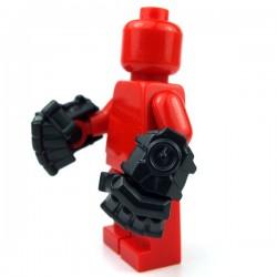 Lego Accessoires Minifig Custom BRICKWARRIORS Powerfists (la paire - Noir) (La Petite Brique)