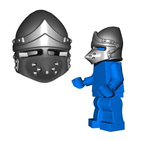 Lego Accessoires Minifig Custom BRICKWARRIORS Pig Snout Bascinet (Steel) (La Petite Brique)