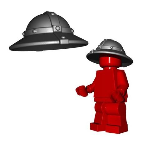 Lego Accessoires Minifig Custom BRICKWARRIORS Kettle Helm (Steel) (La Petite Brique)