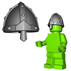 Lego Accessoires Minifig Custom BRICKWARRIORS Nasal Helm (Steel) (La Petite Brique)