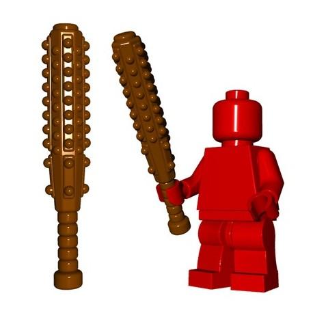 Lego Accessoires Minifig Custom BRICKWARRIORS Kanabo (Marron) (La Petite Brique)