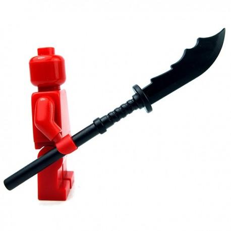 Lego Accessoires Minifig Custom BRICKWARRIORS Naginata (Noir) (La Petite Brique)