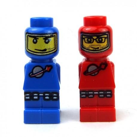 Lego Accessoires Minifig Statuettes Microfig Astronautes (Bleu + Rouge) (La Petite Brique)