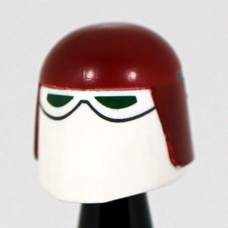 Lego Accessoires Minifig Custom CAC Casque Snow Dark Red (La Petite Brique)