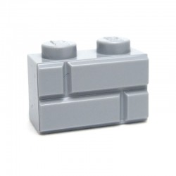 Lego Accessoires Brique 1x2 Modified (with Masonry Profile) LIGHT BLUISG GRAY (La Petite Brique)