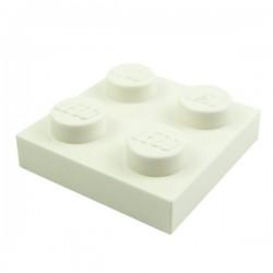 Lego Pièces Détachées Plaque 2x2 (White)