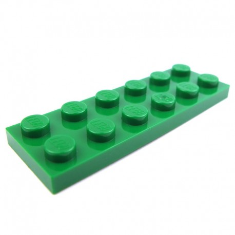 lego pi ces d tach es plaque 2x6 vert. Black Bedroom Furniture Sets. Home Design Ideas