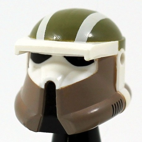Lego Accessoires Minifig Star Wars Clone Army Customs - Casque Driver Jungle