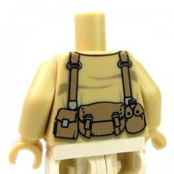 Lego Custom Minifig eclipseGRAFX - Torse, Soldat Américain Marine (beige)