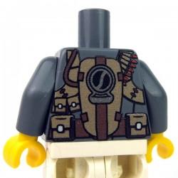 Lego Accessoires minifig custom eclipseGRAFX - Torse Minifig, Tactical Vest (DBG)