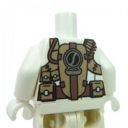 Lego Accessoires minifig custom eclipseGRAFX - Torse Minifig, Tactical Vest (Blanc)