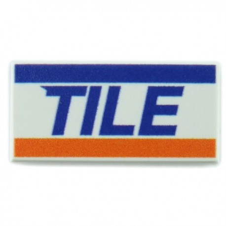 Lego Accessoires minifig custom eclipseGRAFX - Carte de Credit Visa (Tile 1x2)