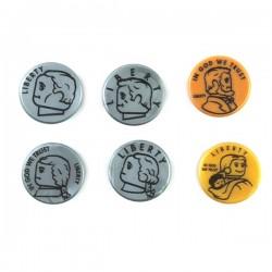 Lego Accessoires minifig custom eclipseGRAFX - 6 pièces de monnaie Dollars