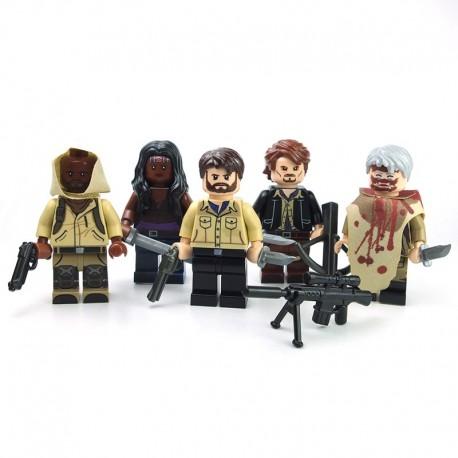 Lego minifigure custom eclipseGRAFX - 5 Minifigs Walking Dead