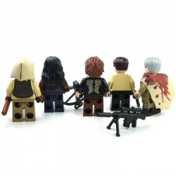 Lego minifigure custom eclipseGRAFX - 5 Minifigs Walking Dead
