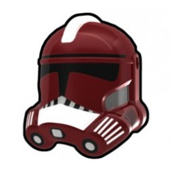 Lego Accessoires Custom Star Wars Arealight - Casque Dark Red Fox Trooper
