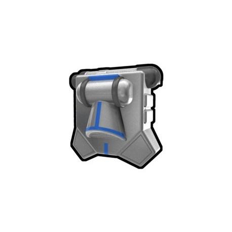 Lego Accessoires Custom Star Wars Arealight - Silver Vizla, Blue Mark Jetpack