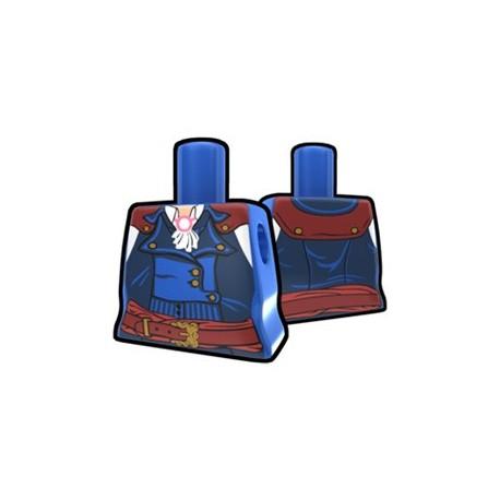 Lego Accessoires Star Wars Minifigures Arealight - Arealight - Torse féminin Bleu Revolter's Coat