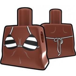 Arealight - Brown Curved Torso with Black Stripe Bikini