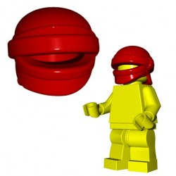 Lego Accessoires Minifig Custom Brick Warriors - Head Wrap (Dark Red)